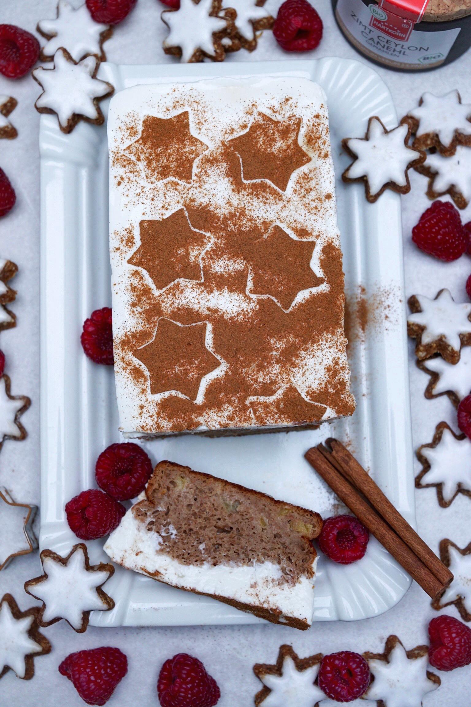 Apfel Zimt Kuchen Mit Zimtstern Frosting Tabitha Maria Scheuer