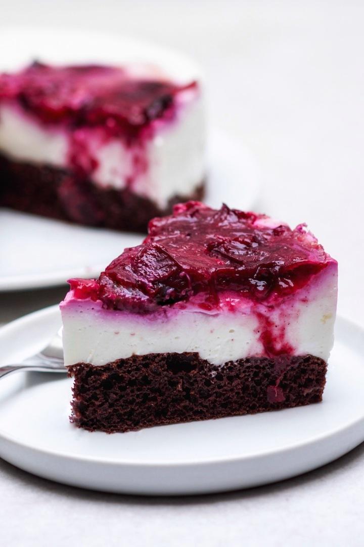 Kuchen von der Seite