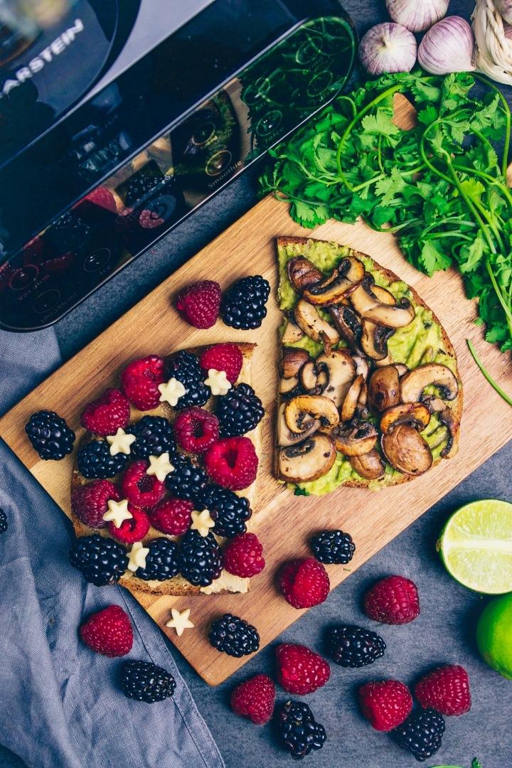 Beeren und Avocado mit Klarstein