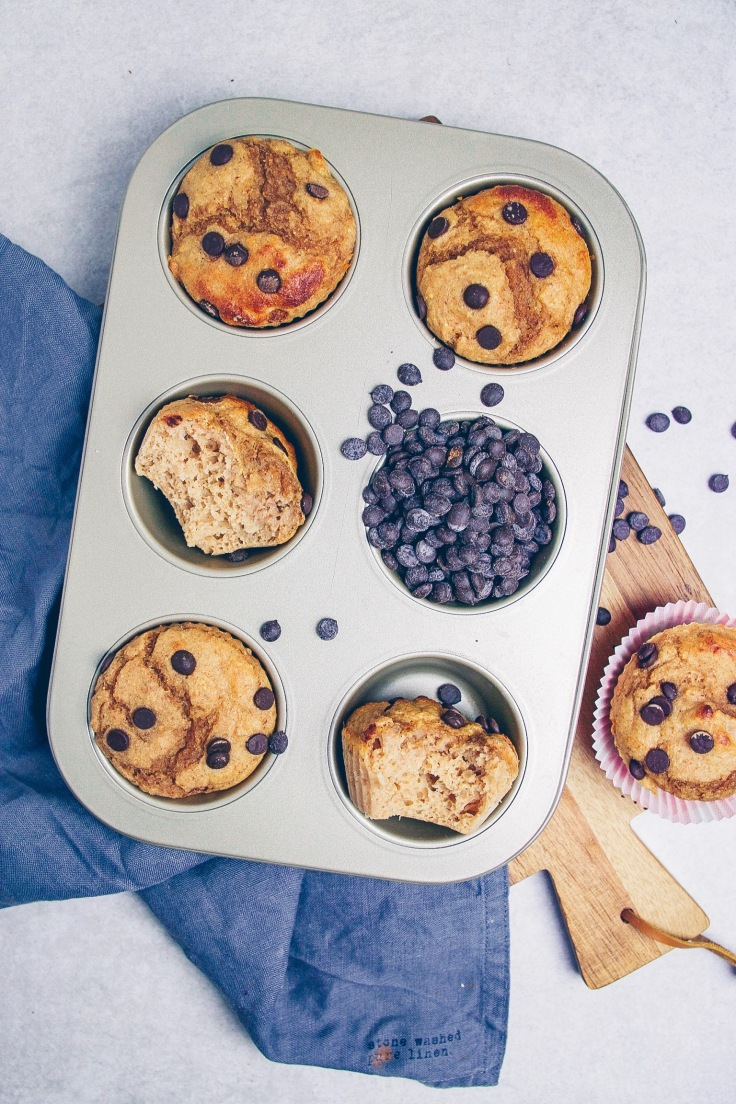 fluffige Chocolate Chip Muffins