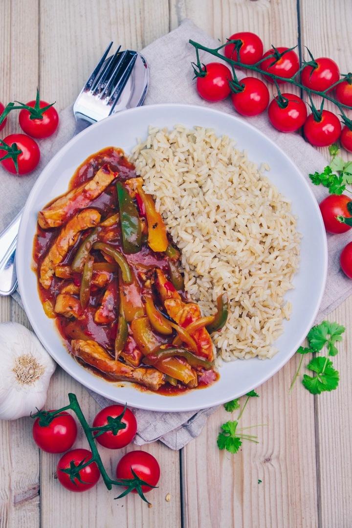 schnelles Pfannengericht mit Reis