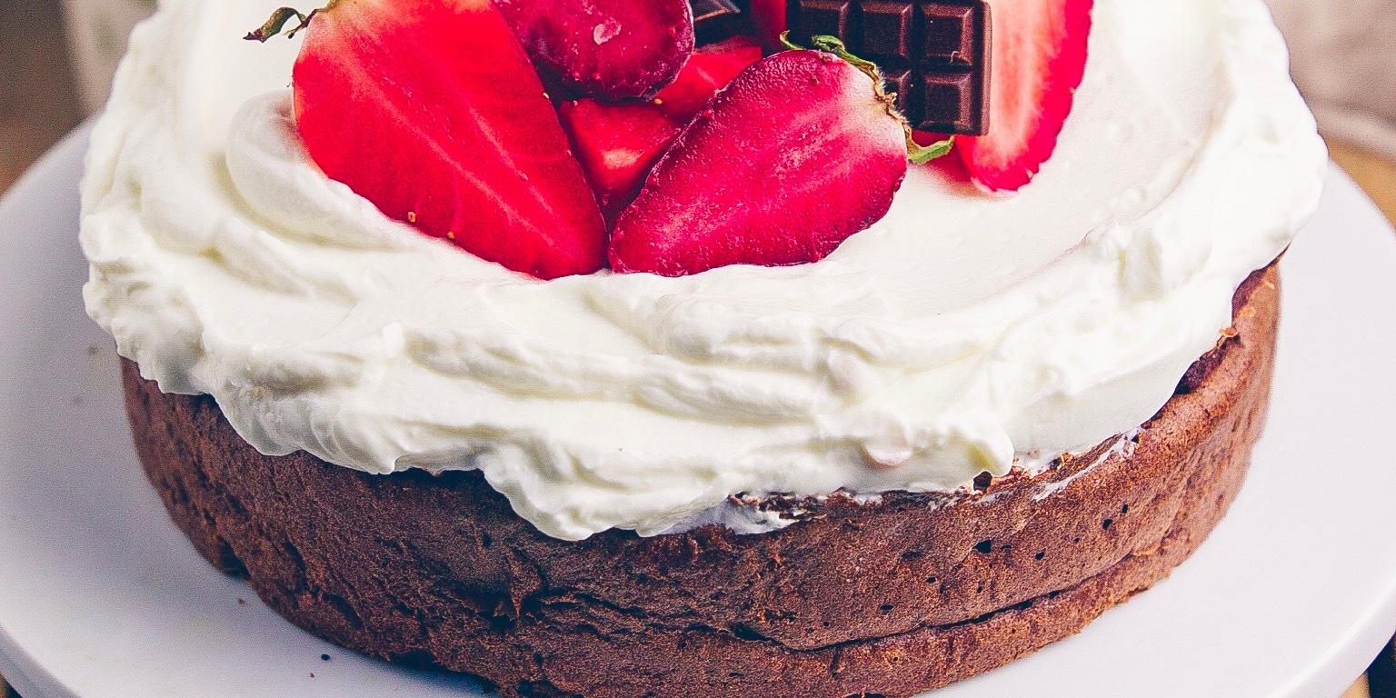 Veganer Baileys Almande Schoko Fudge Kuchen Und Drei Leckere