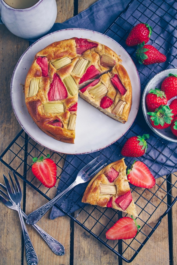 Erdbeer-Rhabarber Kuchen 2