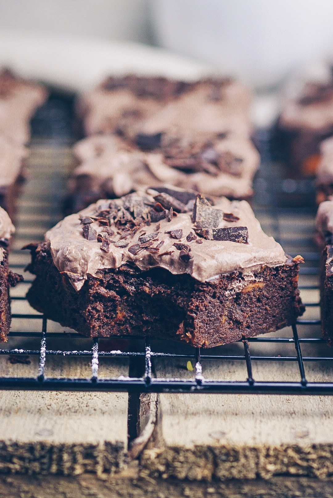 Süßkartoffel Brownies mit Creme