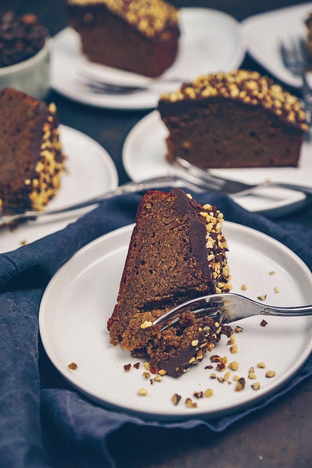 Erdnussbutter Kuchen mit Schoko Glasur